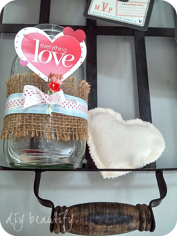 neutral Valentines decor with texture