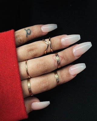 transparent coffin nails