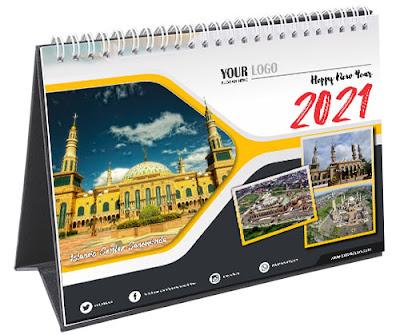 Template Kalender Duduk 2021 Free CDR