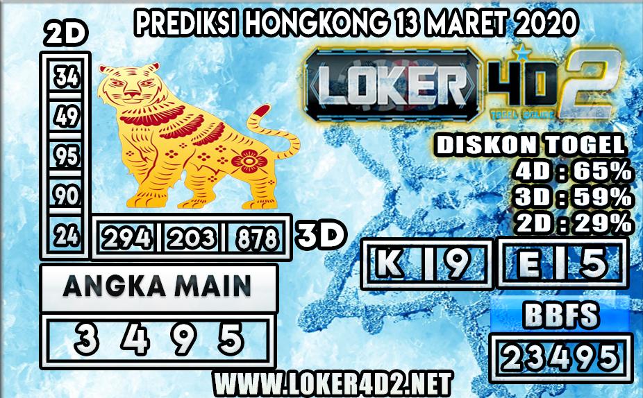 PREDIKSI TOGEL HONGKONG  LOKER4D2 13 MARET 2020