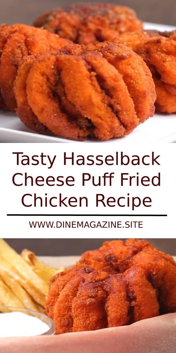 Tasty Hasselback Cheese Puff Fried Chicken Recipe #hasselback #cheese #cheesepuff #friedchicken #chicken #chickenrecipe #sidedish #maindish #dinner