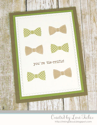 You're Tie-rrific card-designed by Lori Tecler/Inking Aloud-stamps from SugarPea Designs