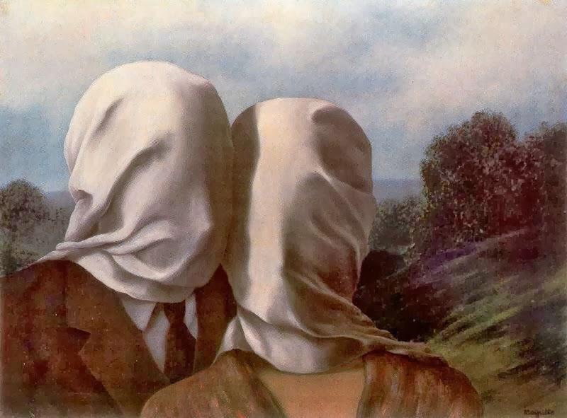 René Magritte los amantes