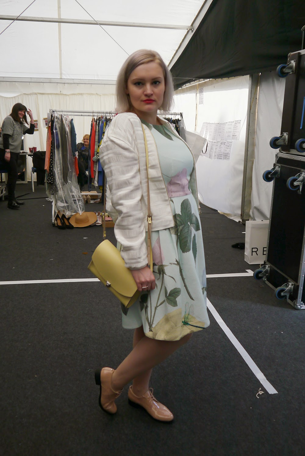 Edinburgh Fashion Week, Scottish Bloggers, #EdFashionWeek, Edinburgh, Scottish Fashion, Florals, Satisfashion, The Cambridge Satchel Company, H&M, backstage, fashion show, trends s/s 15