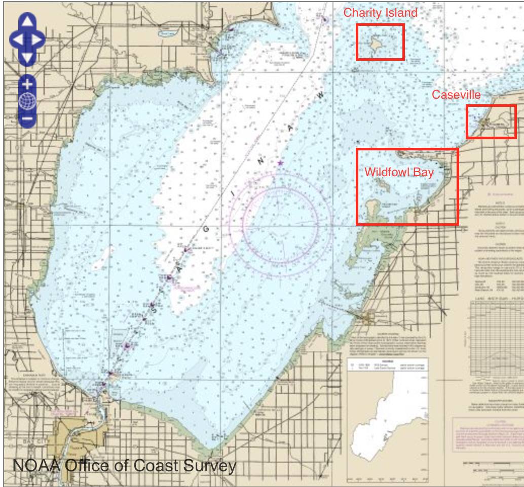 saginaw bay credit charts noaa gov