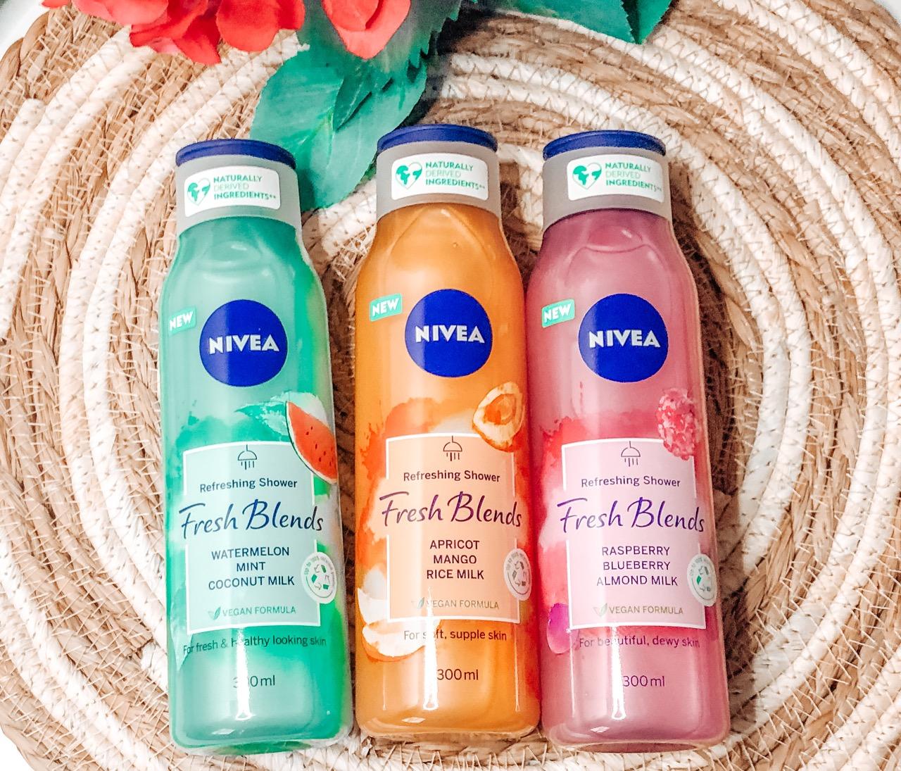 Nivea heeft drie nieuwe producten uitgebracht, namelijk de Niveau Fresh Blends douchegel in drie verschillende fruit geuren!