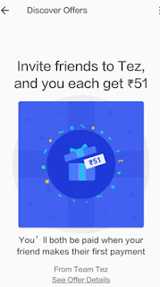 google tez app refer and earn offer