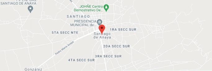 Santiago de Anaya, Hidalgo Mapa de calles