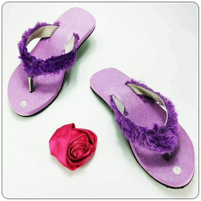 Sandal Lisban Bulu Wanita Dewasa