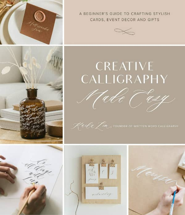 calligraphy projects on book cover