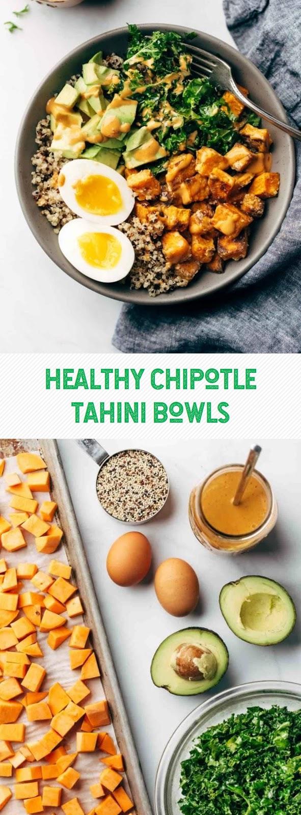 Healthy Chipotle Tahini Bowls