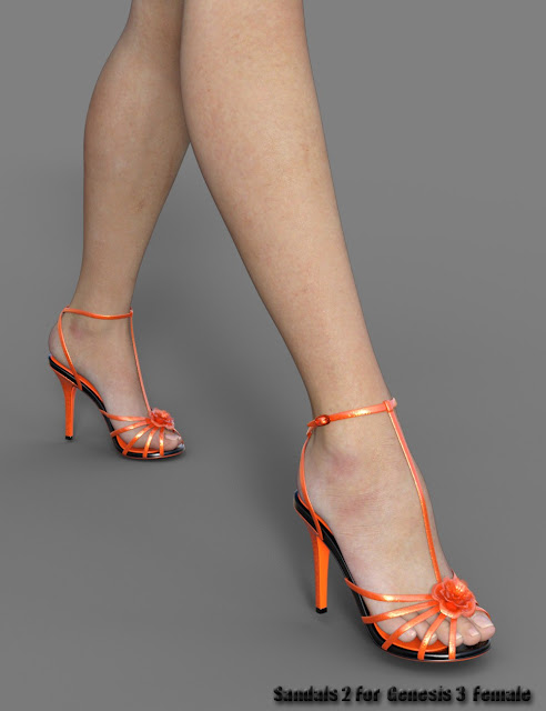 Sandals 2 for Genesis 3 Female