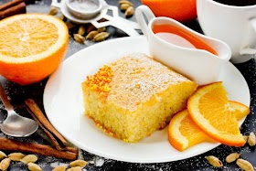 Basbousa arancione