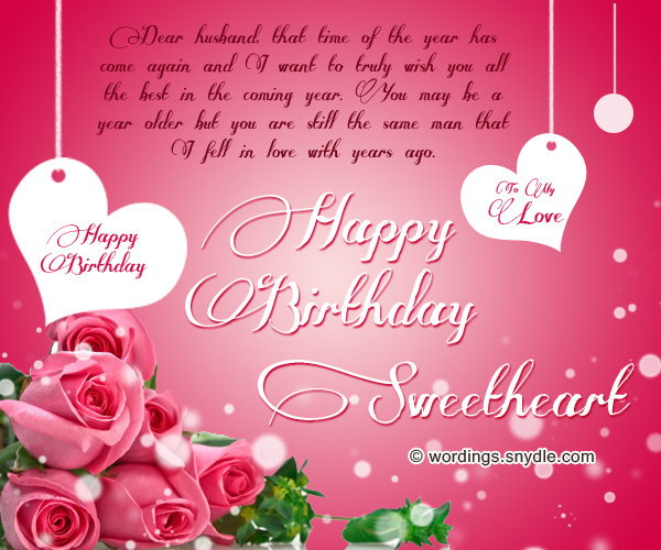 Romantic happy birthday wishes for wife