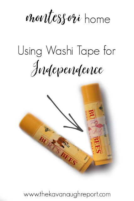A simple way to give kids more independence by using Washi tape