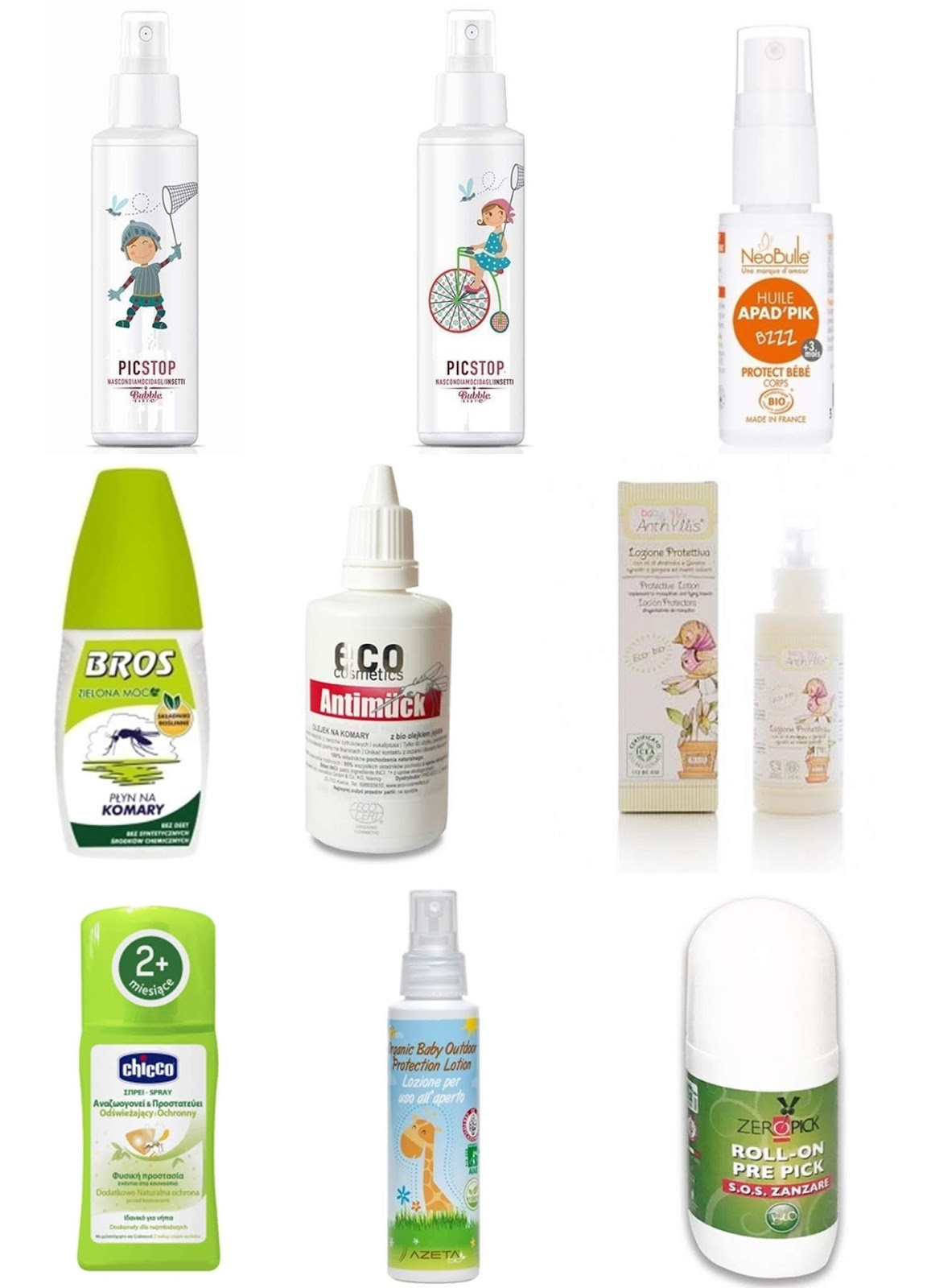 Produkty przeciw owadom, kleszczom i insektom z dobrym składem.