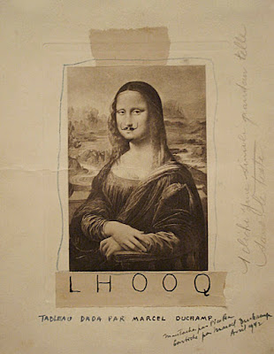 L.H.O.O.Q by Marcel Duchamp, 1919 - Mona Lisa with a moustache
