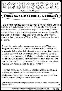 Lenda da boneca Russa Matrioska