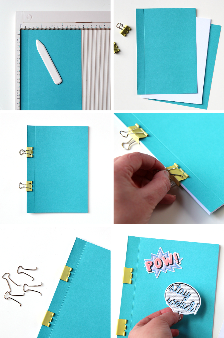 Bind your notebooks with this quick and simple binder clip bookbinding method.