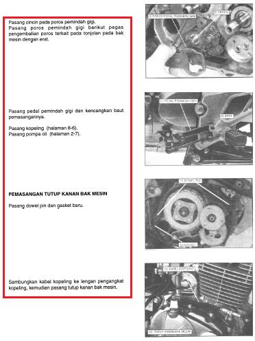 Cara pasang Bak Kanan Mesin Tiger 2000, Tiger Revo, Honda GL