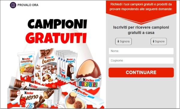 Get free the new Kinder Pack now For Italy