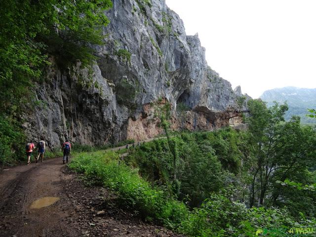 Túnel del Crestón en la pista a Brañagallones