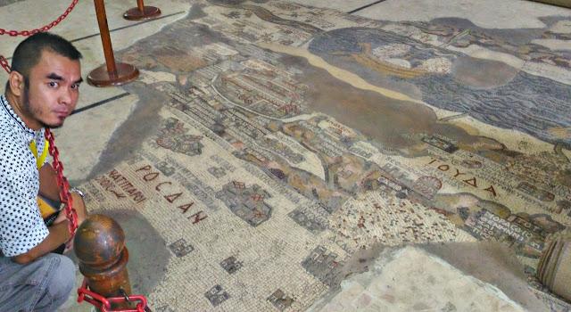 Marky Ramone Go Madaba Mosaic Map in Saint George Church