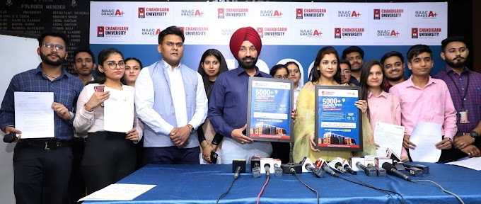 Chandigarh University registers 5000+ placement offers for 2021 batch; Highest in North India