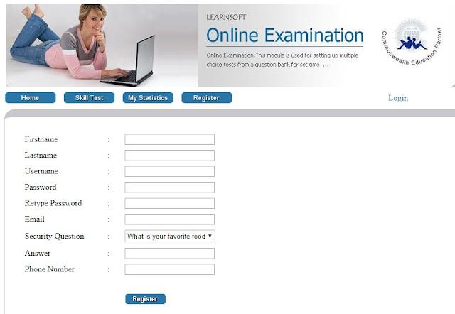 online exam registration