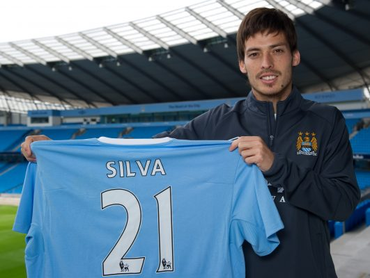 best Midfielder players David silva as one of the players