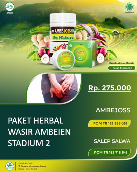 Paket Herbal Wasir Ambeien Stadium 2