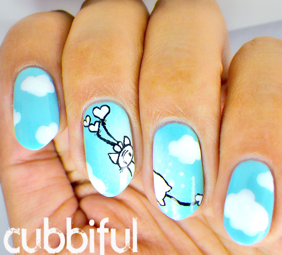 cubbiful: Kawaii Cat Nail Art inspired by Momocheet