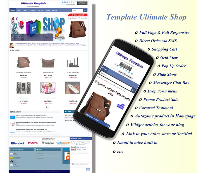 Template Ultimate Shop for Blogging and Online Shop