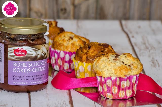 Muffins à la vanille fourrés à la pâte à tartiner choco-coco