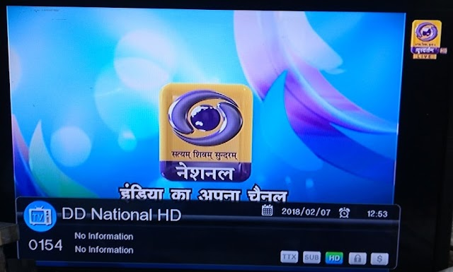 DD National Channel available at channel number 02