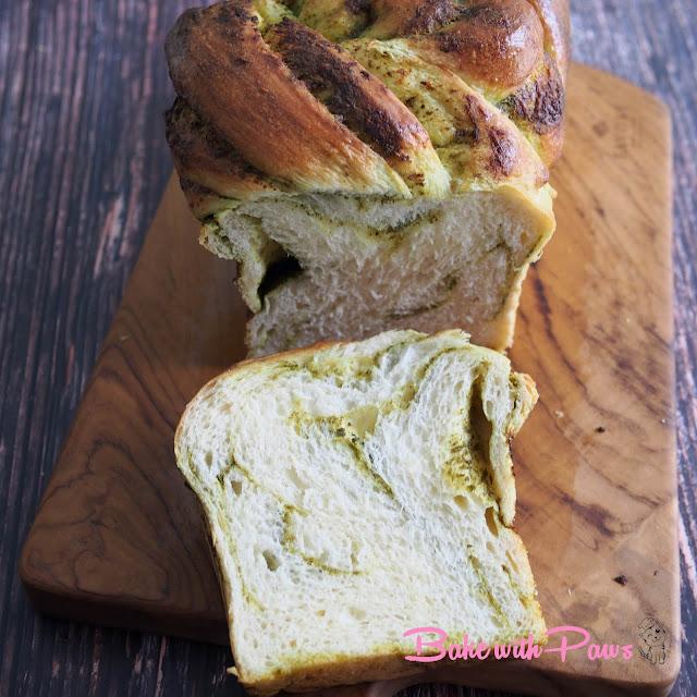 Sourdough Twisted Pesto Bread