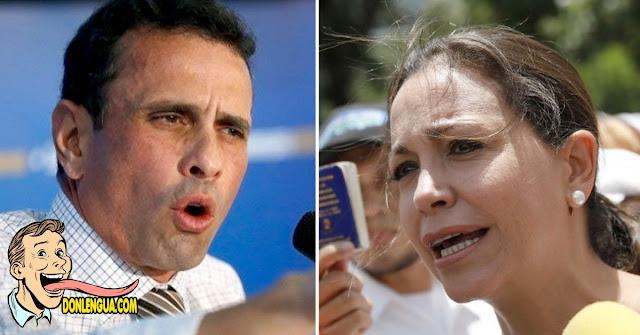 Maria Corina es clara : Capriles está apoyando al Régimen de Maduro