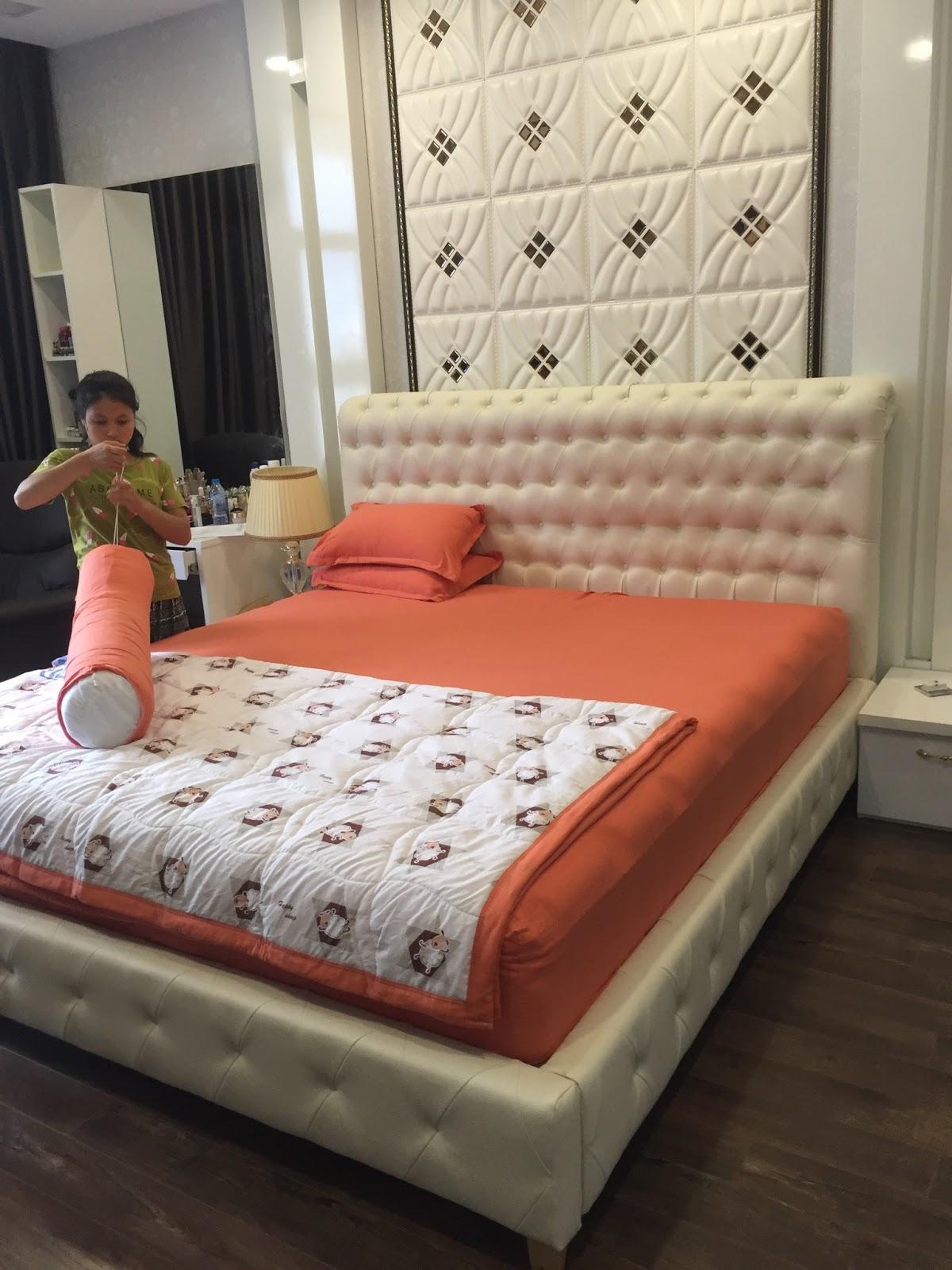 Giường ngủ bọc da cao cấp