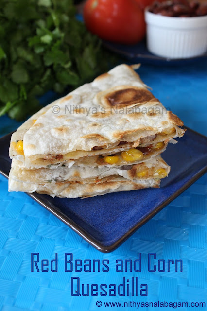 Rajma and Corn Quesadilla