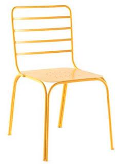 sillas forja colores