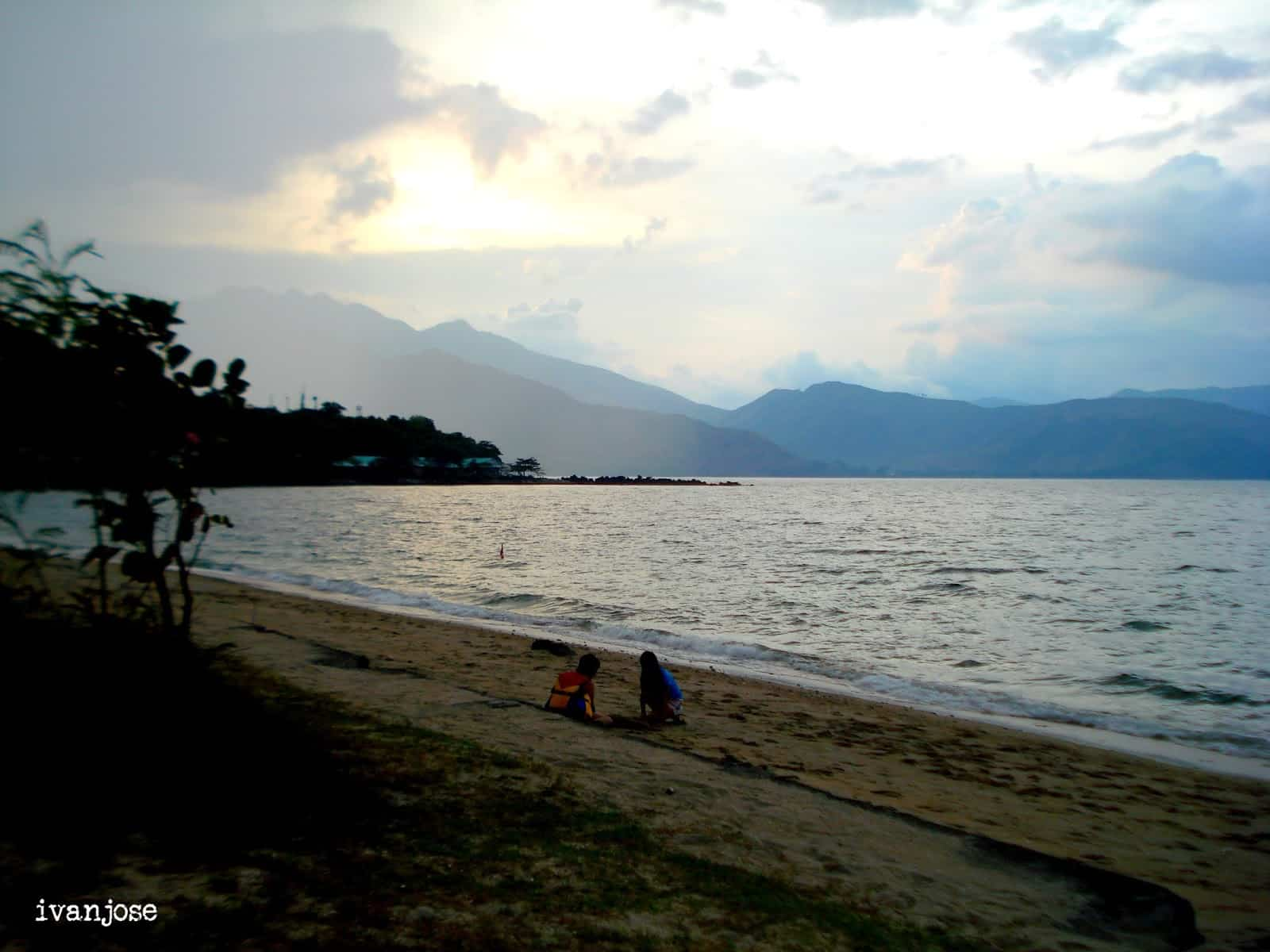 Shot of the beach during dusk at Grande Island Resort