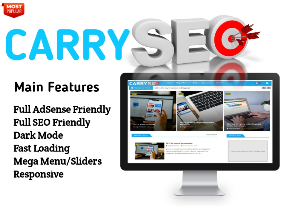 Carry SEO Blogger Template