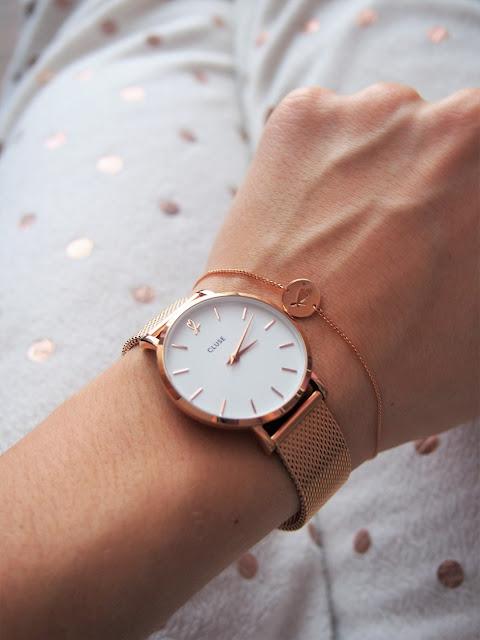 rosegold hodinky cluse