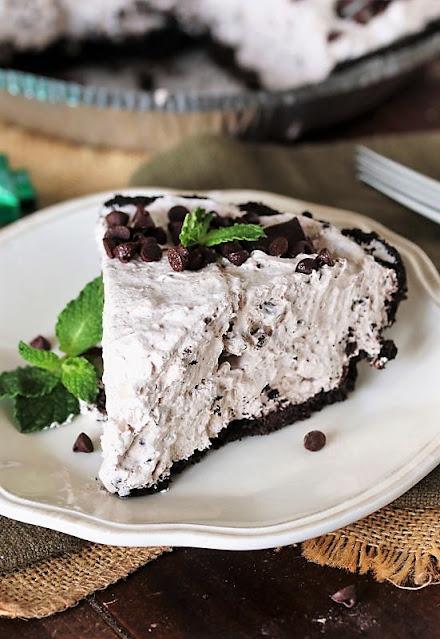 Piece of Mint Chocolate Chip Pie Image