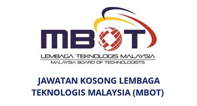 Jawatan Kosong Lembaga Teknologis Malaysia 2021 (MBOT)