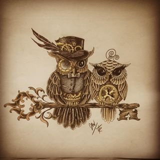 Owl Steampunk Tattoo Ideas