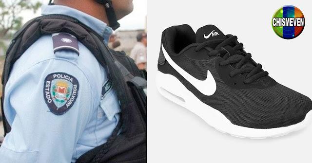Tres policías de Aragua detenidos por robarse una remesa de zapatos Nike