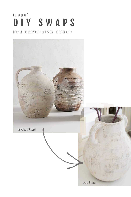 diy artisan vase dupe pottery barn