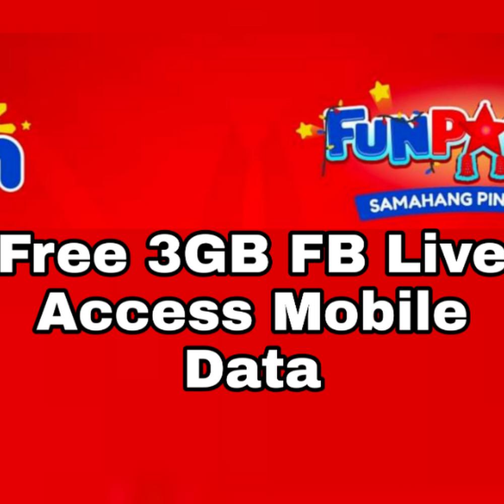 TM: Get Free 3GB FB Live Access Mobile Data TMFUNPASKO