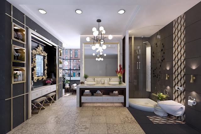 Bathroom Free Sketchup Interior Scene , sketchup models , 3d model sketchup , free sketchup models , 3d rendering , 3d modelling , sketchup vray render